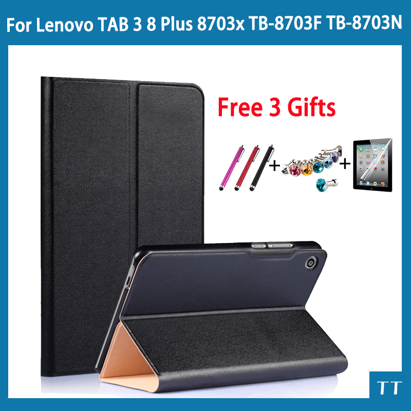 Luxury PU Leather Case for Lenovo Tab 3 8 Plus 8703x TB-8703F TB-8703N 8Tablet Stand Protective Cover for Lenovo Tab3 8 Plus luxury pu leather case for lenovo tab 3 8 plus 8inch tablet stand protective cover for lenovo p8 tb 8703f tab3 8 plus