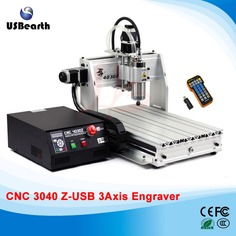 Desktop cnc machine 3040Z-USB mach3 control PCB milling machine drilling router with handwheel cnc 5axis a aixs rotary axis t chuck type for cnc router cnc milling machine best quality