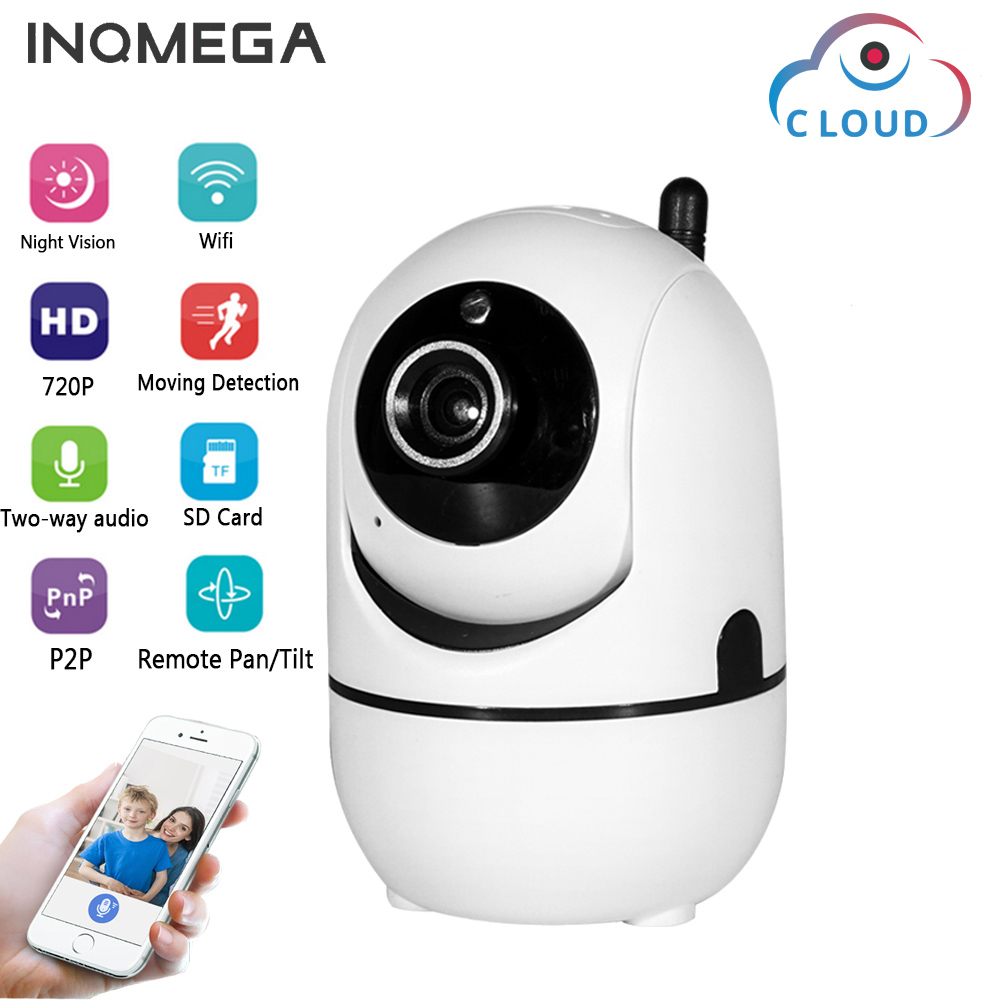INQMEGA 720P Cloud Wireless IP Camera Intelligent analysis Body Motion Tracking Smart Home Security Surveillance System wifi cam 826 smart wireless ptz cloud camera
