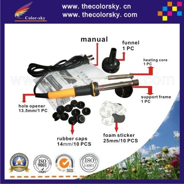 RTT-18BK) отверстие бурильщика экскаватора и пены стикер Заглушка Крышка для hp для canon для lexmark тонер картридж заправка набор инструментов