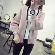 Autumn and winter coat sweater cardigan female 2016 new dress Korean  uniform ladies sweater bubble sleeve