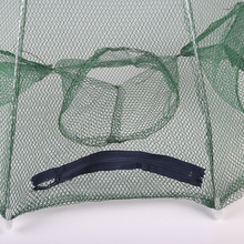 Folded Portable Hexagon 6 Hole Automatic Fishing Shrimp Trap Fishing Net Fish Shrimp Minnow Crab Baits Cast Mesh Trap