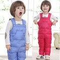 2016 Crianças Roupas de Inverno do bebê Da Menina do menino crianças terno De Esqui conjunto de calças para baixo pato fluff criança vestido infantil macacão rumper roupas