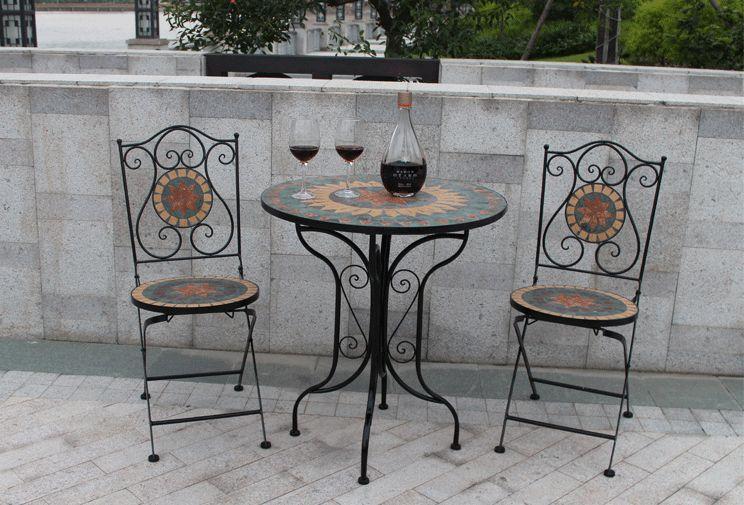 Amazing americano in ferro battuto tavoli e sedie possono essere mosaico patio tavolo e sedie di - Tavoli da giardino in ferro battuto e mosaico ...