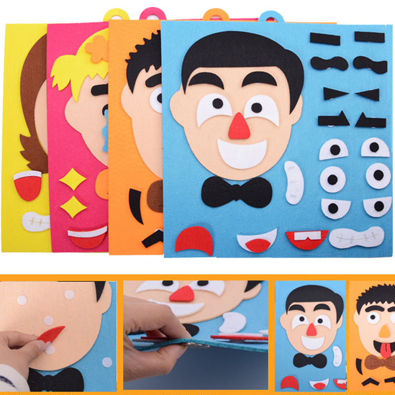 3D Parents And Kids Five Sense Organs EVA Foam DIY Assembling Puzzles Jigsaw Children Recognition Training Educational Toys