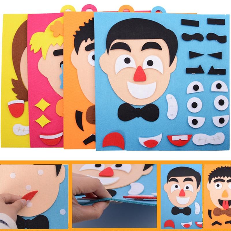 3D Parents And Kids Five Sense Organs EVA Foam DIY Assembling Puzzles Jigsaw Children Recognition Training Educational Toys