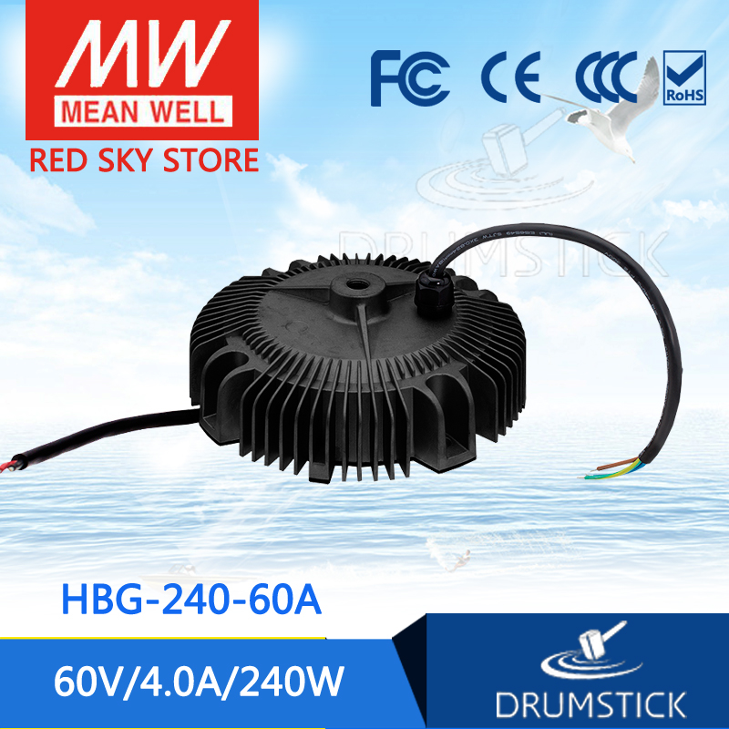 Hot sale MEAN WELL HBG-240-60A 60V 4A meanwell HBG-240 60V 240W Single Output LED Driver Power Supply [ba]mean well original hbg 240 48a 1pcs 48v 5a meanwell hbg 240 48v 240w single output led driver power supply