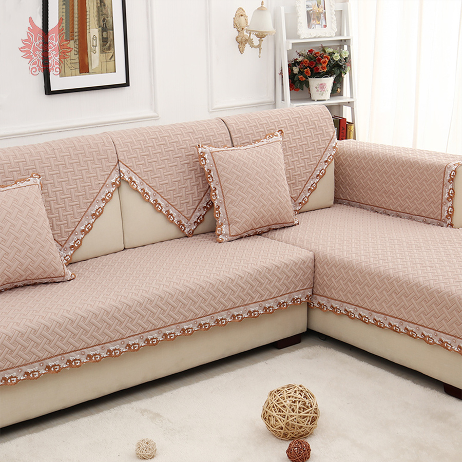 Europe style luxury geometric embroidery quilted sofa for Decoration canape