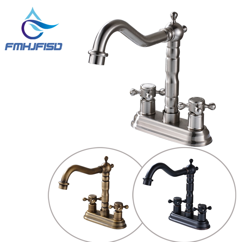 New Arrival Best Quality Bathroom Mixer Water Faucet Two Handles Basin Water Taps Three Colors