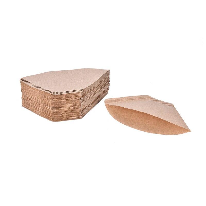 100 قطعة/الحقيبة خشبية الأصلي اليد بالتنقيط ورقة فلتر القهوة اسبرسو مرشحات القهوة