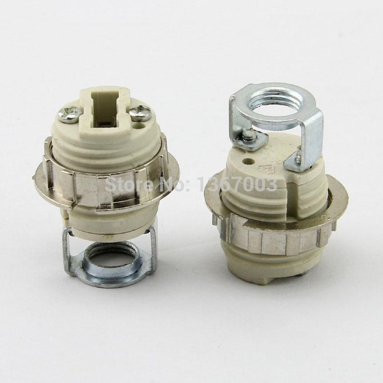 G9 Lamp Beads Lampholders G9 LED Crystal Lamp Holders Halogen Block Base Socket Ceramic G9 Lamp Holder M10 Bracket Lamp Socket