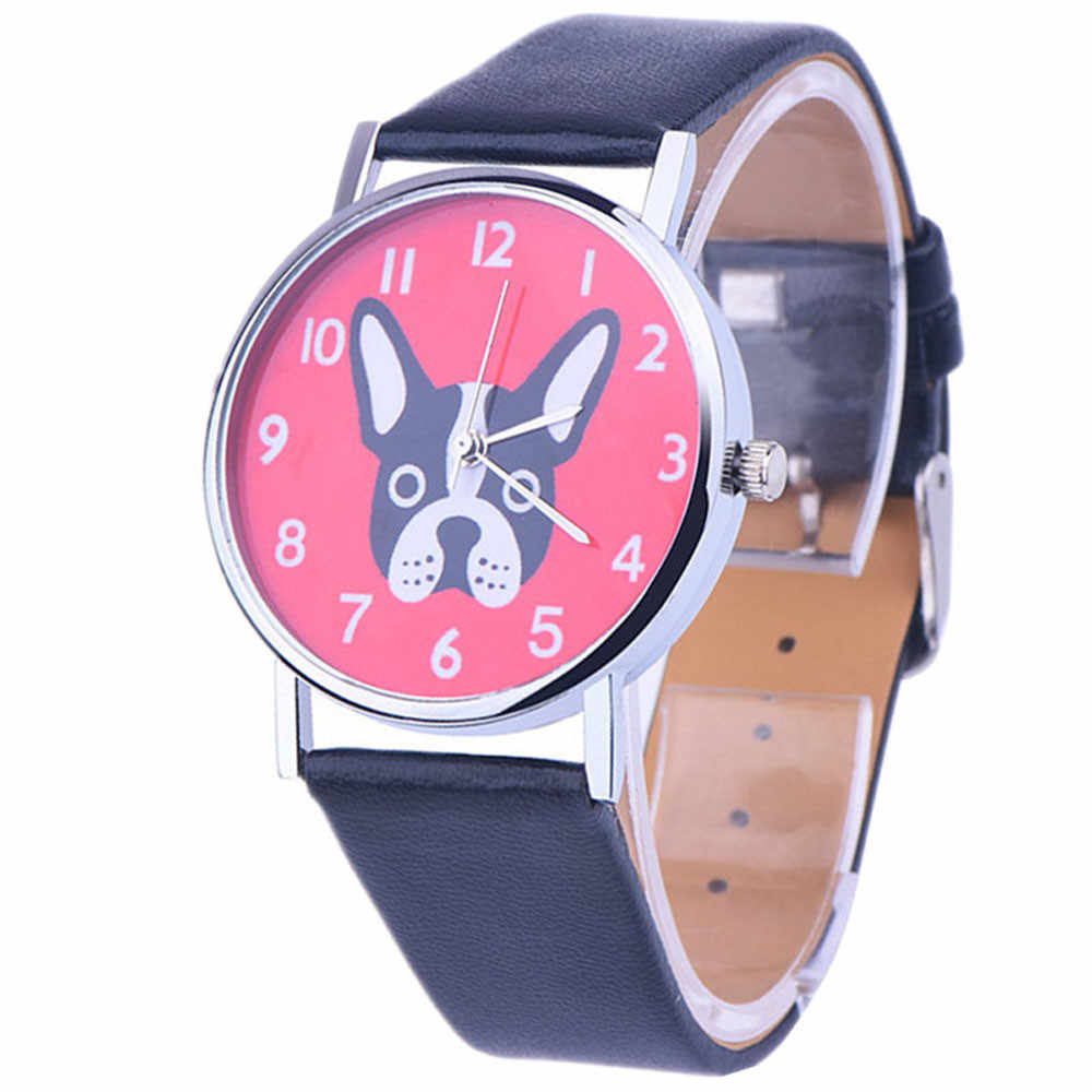 2019 Fashion Watches Casual Top Brand Steel Bracelet Wristwatch Watch Women Ladies Casual Montre Dog Printed Cute Hour gift saat