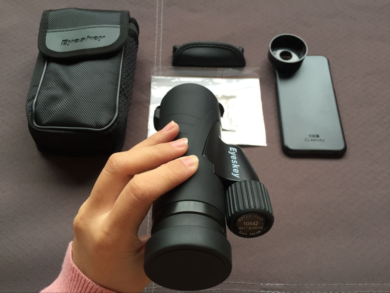 New 10x42 High-power Monocular Telescope with Adapter Spotting Scope