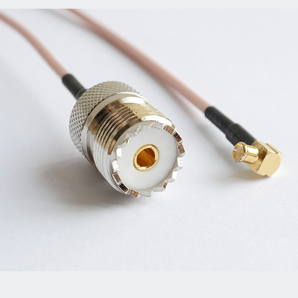 ALLISHOP 15CM RG316 RF Coaxial Cable UHF SO239 PL259 Female to MCX Male Right Angle Connector rf coaxial cable uhf male to male connector uhf pl259 male to uhf male pl259 rg58 pigtail cable 50cm