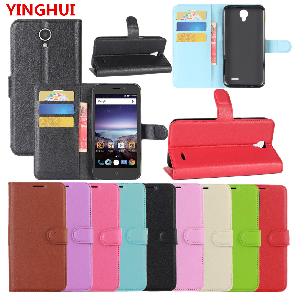 For ZTE Prestige 2 N9136 Case Hight Quality Wallet PU Leather Back Cover Phone Case Flip Protective Cover Bag