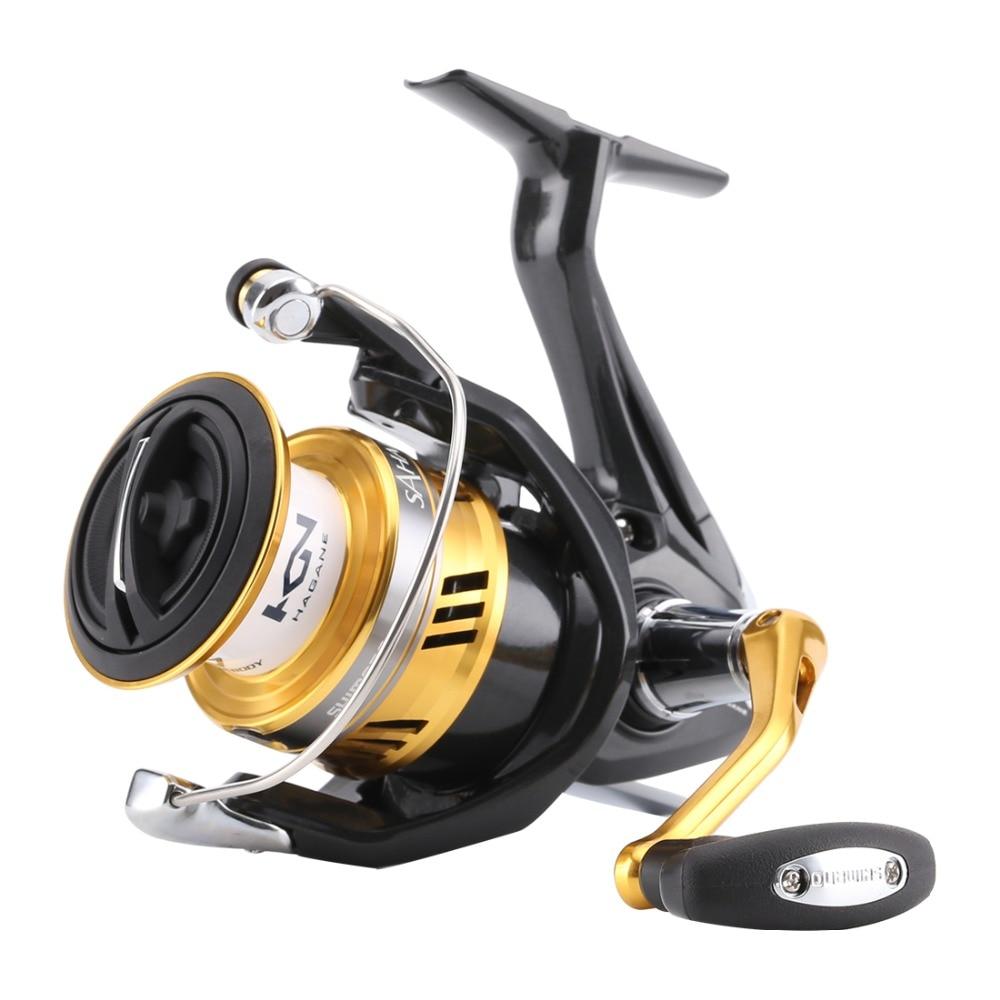 Original Shimano SAHARA FI 1000 2500 C3000HG 4000XG C5000XG Spinning Fishing Reel 5BB Hagane Gear X