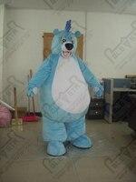 Руки делают высокого качества плюшевые синий медведь маскарадный костюм Жир медведя костюмы