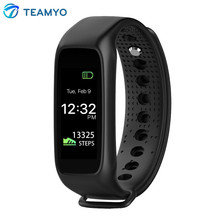 Teamyo L30T Bluetooth Smart Браслет RGB Цвет Дисплей сердечного ритма Мониторы cardiaco SmartBand Фитнес трекер Pulsera inteligente