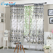 Peony Sheer Curtain Tulle Window Treatment Voile Drape Valance 1 Panel Fabric u70915