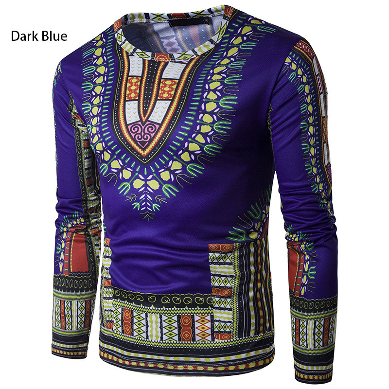 3D Fashion Flower T shirt Long sleeved T shirt Ethnic style Streetwear in T Shirts from Men 39 s Clothing