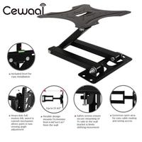 Cewaal Iron Material 14 42 LCD LED TV Mounts Bracket HD TV Tilt Wall Mount Stand Holder Bracket TV Mounts Foldable Swivel Black