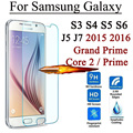2.5d 9 h vidrio templado protector de pantalla para samsung galaxy grand prime core 2 S3 S4 S5 S6 J5 J7 J5008 J7008 2015 J1 mini 2016