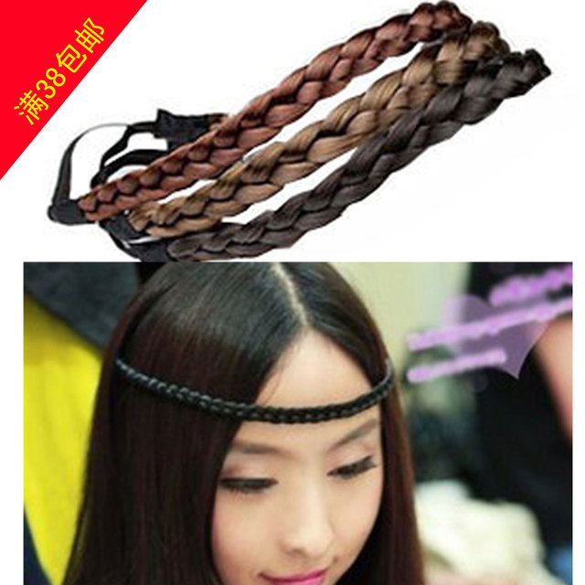 Medium elastic twisted knitted headband wig fringe 1.1CM Width braided plaited hairband headband braided plait hair accessory