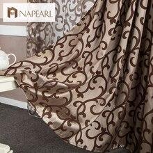 Estilo europeo para 3d cortinas cortinas chinos decoración textil del hogar cortina moderna cortina corta