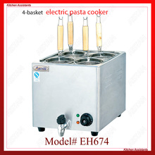 EH674 4-basket electric counter top pasta cooker for commerical use