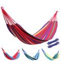 Outdoor canvas hammock chair thickening canvas hammock single camping hammock students dormitory bed Travel Camping Hammock