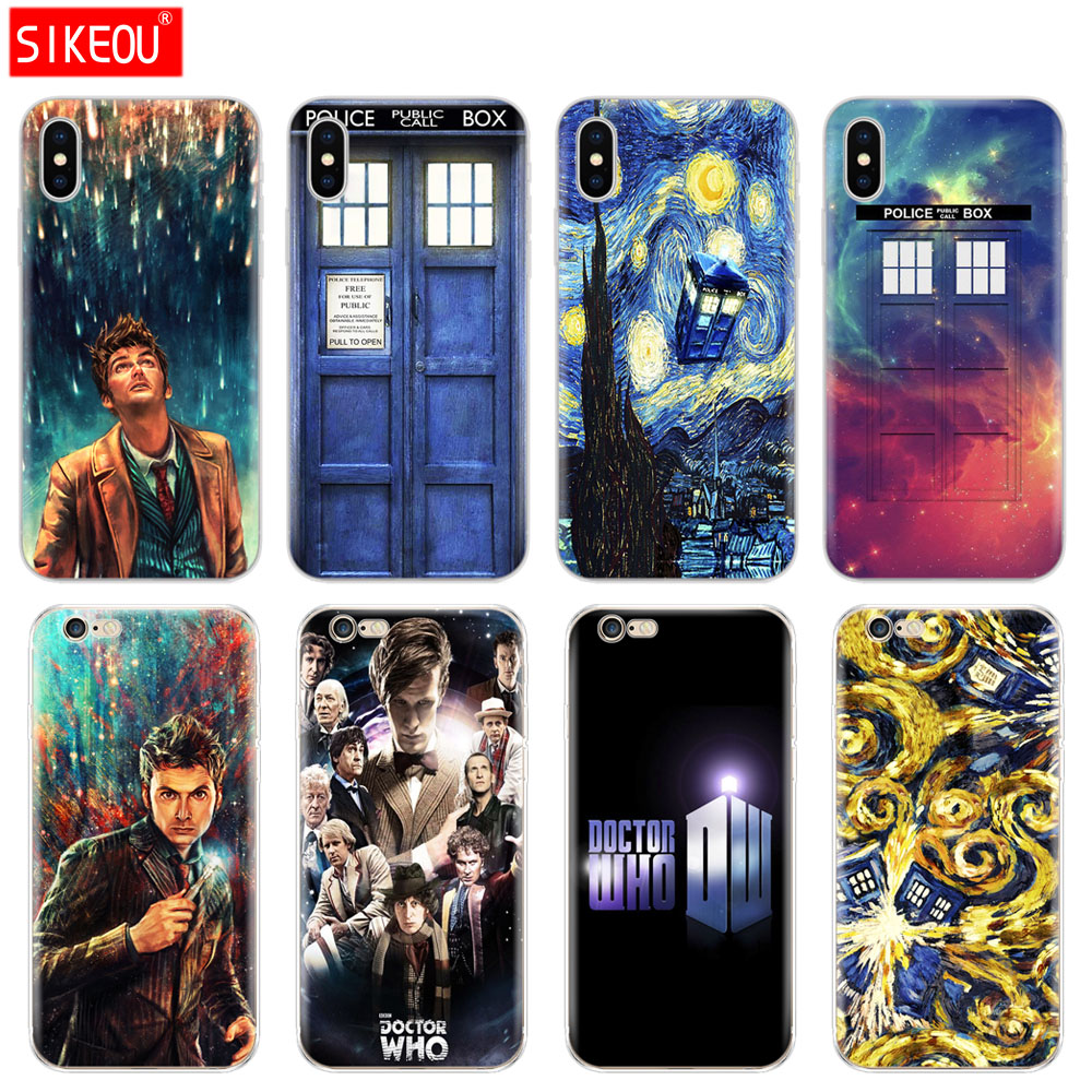 Phone Bags & Cases Practical Silicone Cover Phone Case For Iphone 6 X 8 7 6s 5 5s Se Plus 10 Xr Xs Max Case Doctor Who