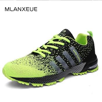 MLANXEUE 2018 Breathable Lovers Unisex Casual Shoes Race an Male Shoe Size 35-4 Fashion Lace-up Human Comfortable Men Shoes