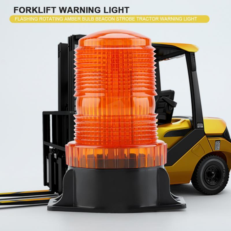 US $9 95 46% OFF|10 110V 30LED Signal Warning Light Rotating Flashing Bulb  LED Indicator Signal Light Strobe Beacon Emergency Lamp For Forklift-in