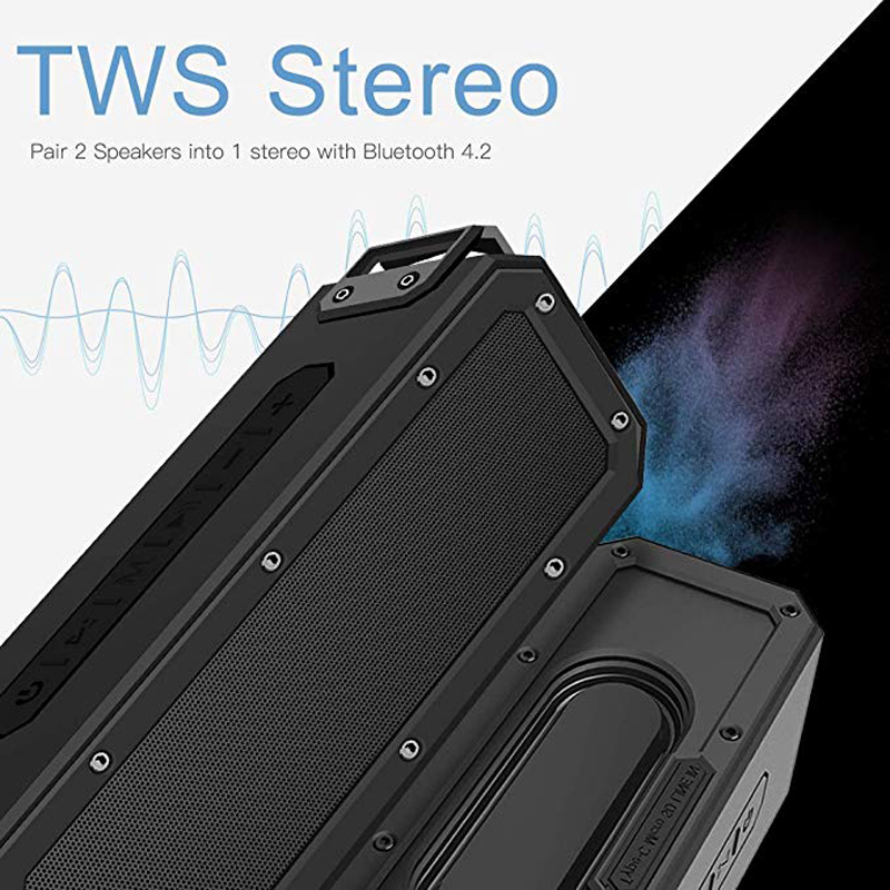 Image 4 - 40W Bluetooth Speaker IP7X Waterproof Portable Column Speakr Super Bass Subwoofer Soundbar Support FM Radio Type C USB Computer-in Portable Speakers from Consumer Electronics