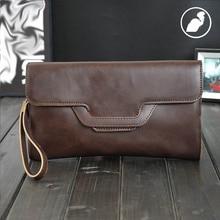 ETONWEAG New 2016 women famous brands Italian leather envelope clutch bags preppy style casual purse brown vintage wallets