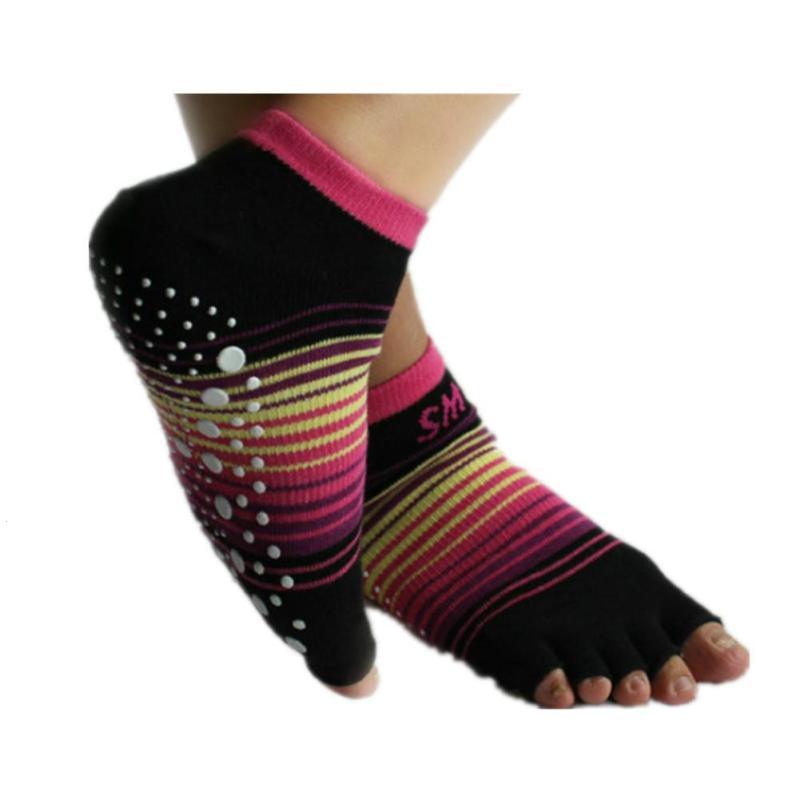 1PC NEW Women Professional Yoga Socks Non-Slip Women Five Finger Toe Socks Athletic Sport Pilates Massage Socks Y3