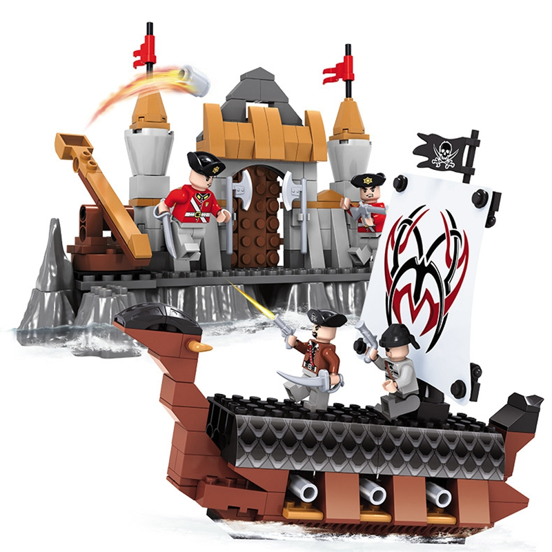Boy Toys for Kids Pirates of The Caribbean Building Blocks Compatible Lepine Friends Model Bricks with Legoe Pirate Ship Blocks lepin 22001 1717pcs pirate ship imperial warships model building blocks toy compatible with legoe pirates caribbean 10210