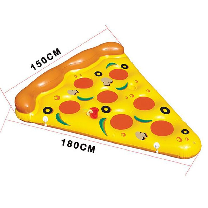 Inflatable Yellow Pizza Pool Toys Float  Inflatable Swimming Rings for Pool Party Favor Summer Holiday Water Air Mattress toys (8)