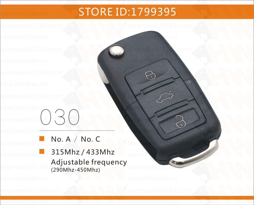Free shipping no c vw style rolling code universal gate garage door remote control for chip - Rolling code garage door remote ...
