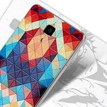 Для Xiaomi Mi4 Оригинальный чехол Mi 4 аккумуляторного отсека m 4 оригинальный задняя крышка Мультфильм Окрашенные рельефы случае