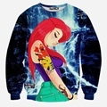 Cool Marvel The Avengers 3D Print Sweatshirt Mermaid Ariel Jumper Pullover Tracksuit Rango Unisex  Loose Outerwear Borgore