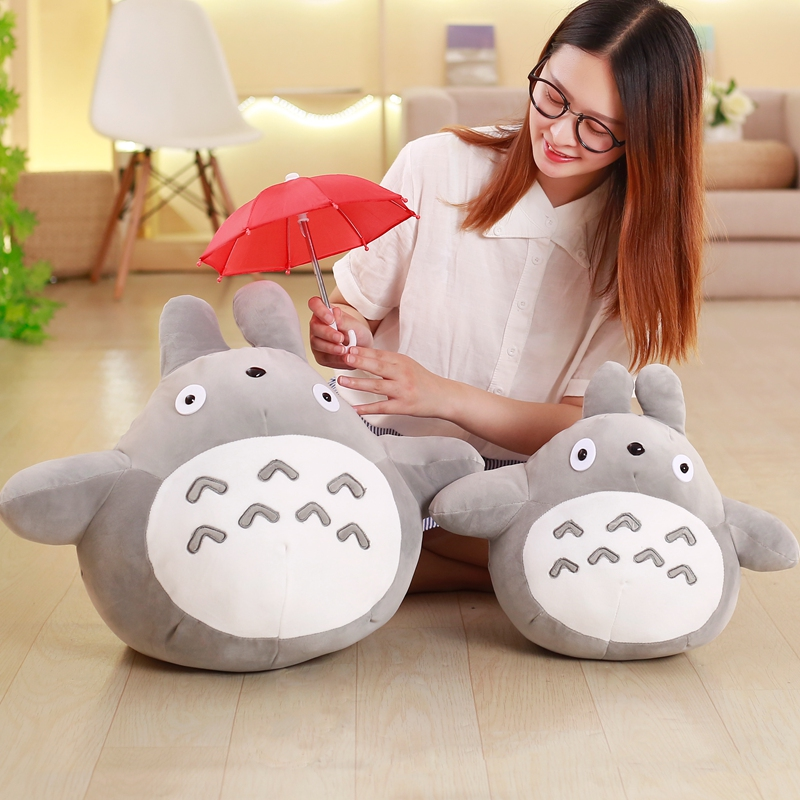 1pcs 40cm 50cm  HOT sale Japan rain umbrella Totoro dolls Stuffed plush toys dolls children gifts! 1pcs 40cm 50cm hot sale japan rain umbrella totoro dolls stuffed plush toys dolls children gifts
