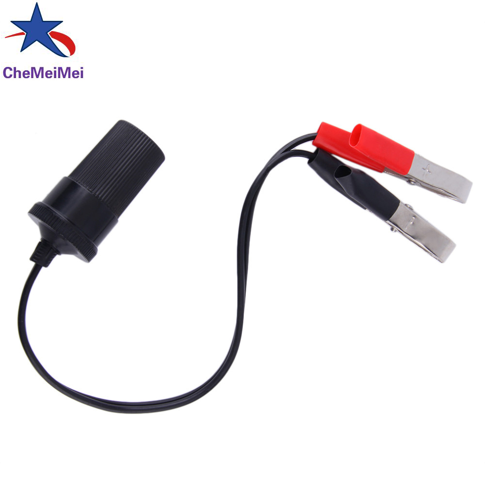hight resolution of 4pcs hot sale 12 volt battery terminal clip on cigar cigarette lighter power socket adapter plug to car boat car styling in cables adapters sockets from