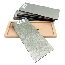 цена на Diamond whetstone 6 Double Sided Diamond Sharpening Stone Polishing Block Whetstone Knife stone bar Wood non-slip base