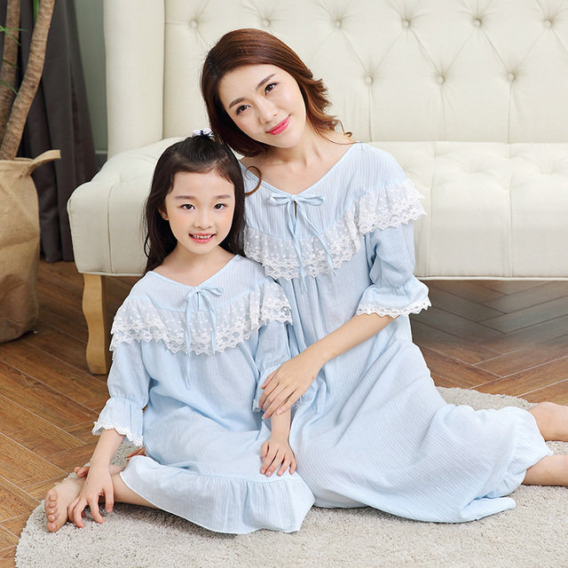 mommy and girl mother daughter pajamas dresses christmas family matching pyjamas nightgowns maternity pajamas clothing - Maternity Christmas Pajamas