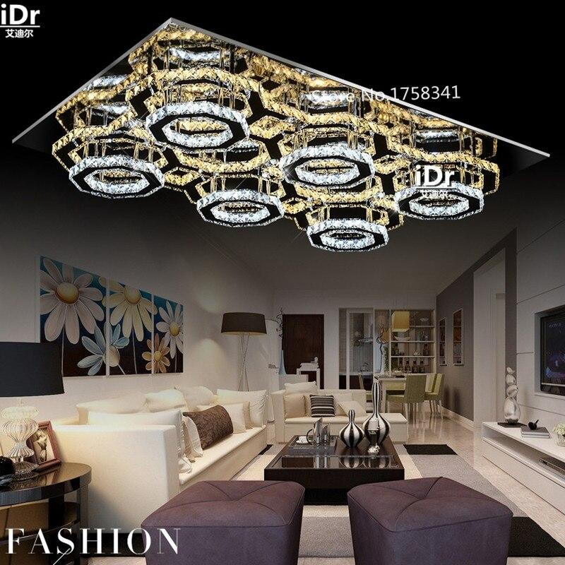 Moderne Deckenleuchte Und Einfache Rechteckige Led Kristalllampe Schlafzimmer Lampe Wohnzimmer Lampen Warme Luxus L700xW500mm