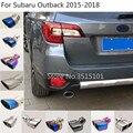 Стайлинг кузова автомобиля  глушитель  выхлопная труба  1 шт. для Subaru Outback 2015 2016 2017 2018