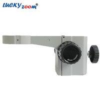 Luckyzoom estéreo zoom microscópio ajuste de foco braço cabeça microscópio titular anel para ficar pós (caramanchão) microscópio acessórios