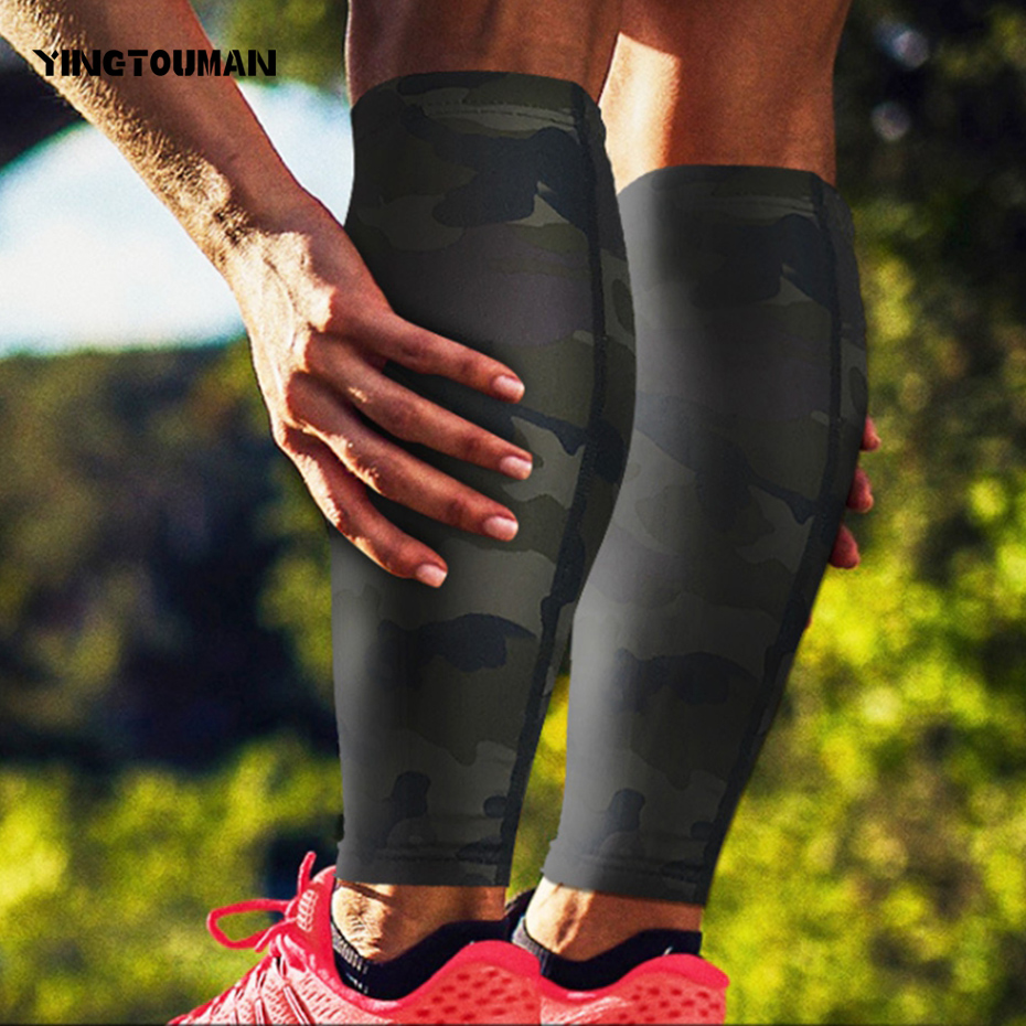 YINGTOUMAN 2pcs/lot Outdoor Football Cycling Calf Compression Sleeve Protector Knee Brace Sports Safety Leg Warmer