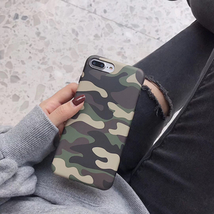New camouflage Classic soft silicon cover case for apple iphone 6 6S plus 7 7plus 8 8plus X XR XS Max Military camo phone coque(China)